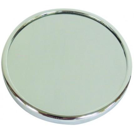 Espelho de aumento cromado
