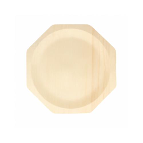 Prato de madeira Octogonal