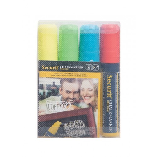 Pack 4 Marcadores de Giz Colorido 7-15mm