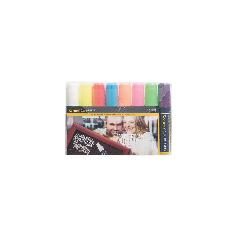 Pack 8 Marcadores de Giz Colorido 7-15mm