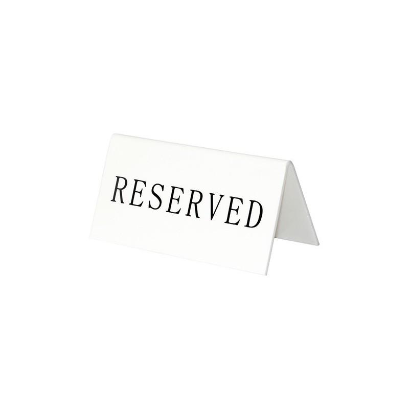 "Placas de Mesa ""Reserva"""
