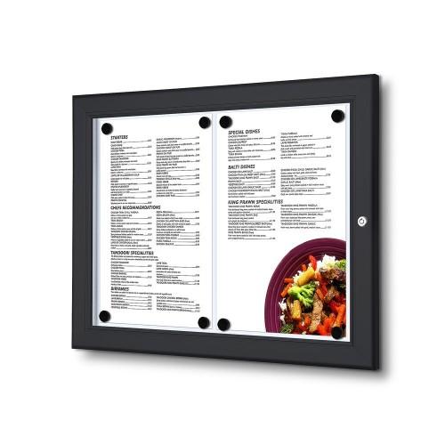 Porta menu exterior de parede 2x A4