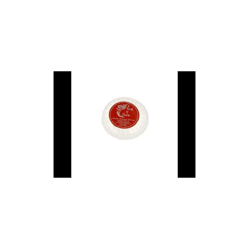Sabonetes Redondos 'TOUCH OF CHARM' 20 G Ø 4,5x1cm  Branco (500 UNID.)