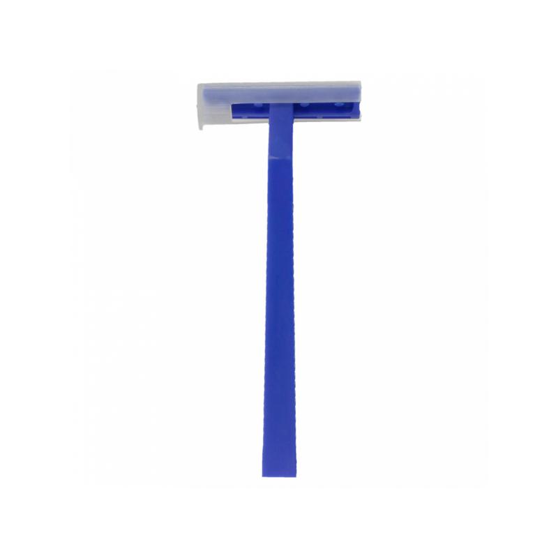 gilete de  barbear lâmina dupla 10cm Azul (100 UNID)
