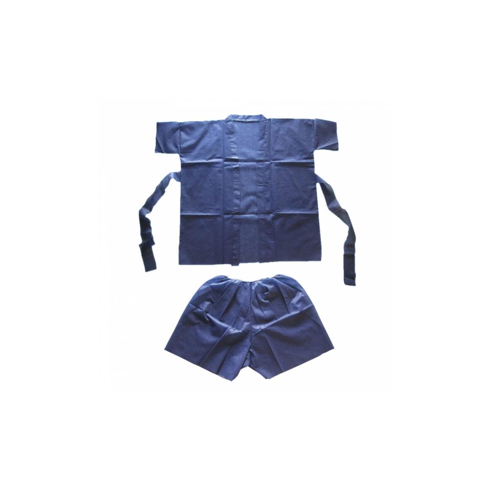 Sauna Suit: Short + kimono azul 10 UNID
