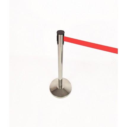 Barreira ou baia poste de separação cromado