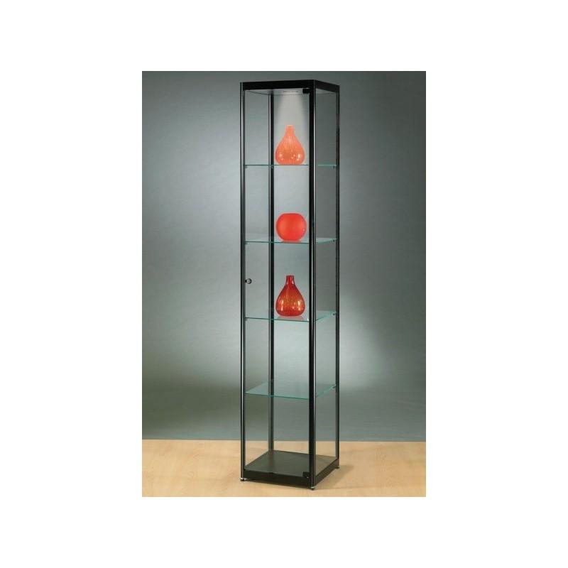 Vitrine de vidro iluminada