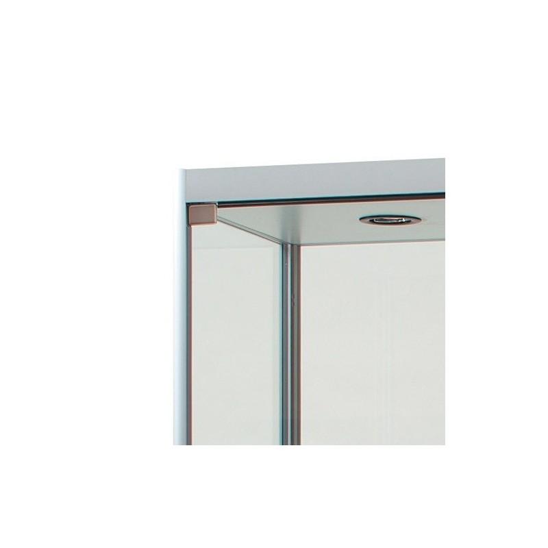 Vitrine de vidro iluminada 800x400mm