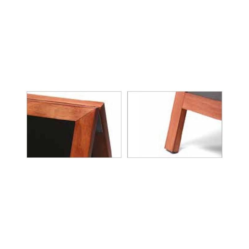 JD NATURA Cavalete de ardósia| alta qualidade de madeira envernizada