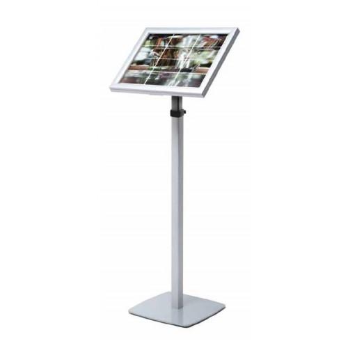 Expositor Menus de LED retroiluminado telescópico| quadro modular iluminado com borda LED