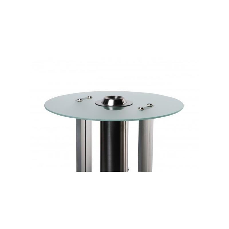 Mesa com cinzeiro de pé  base de aço resistente