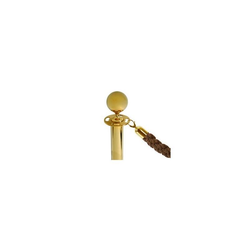 Cordão para poste dourado|  corda veludo