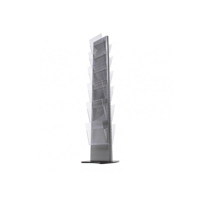 Torre de suporte de folhetos| 6 ou 12 dispensadores A4