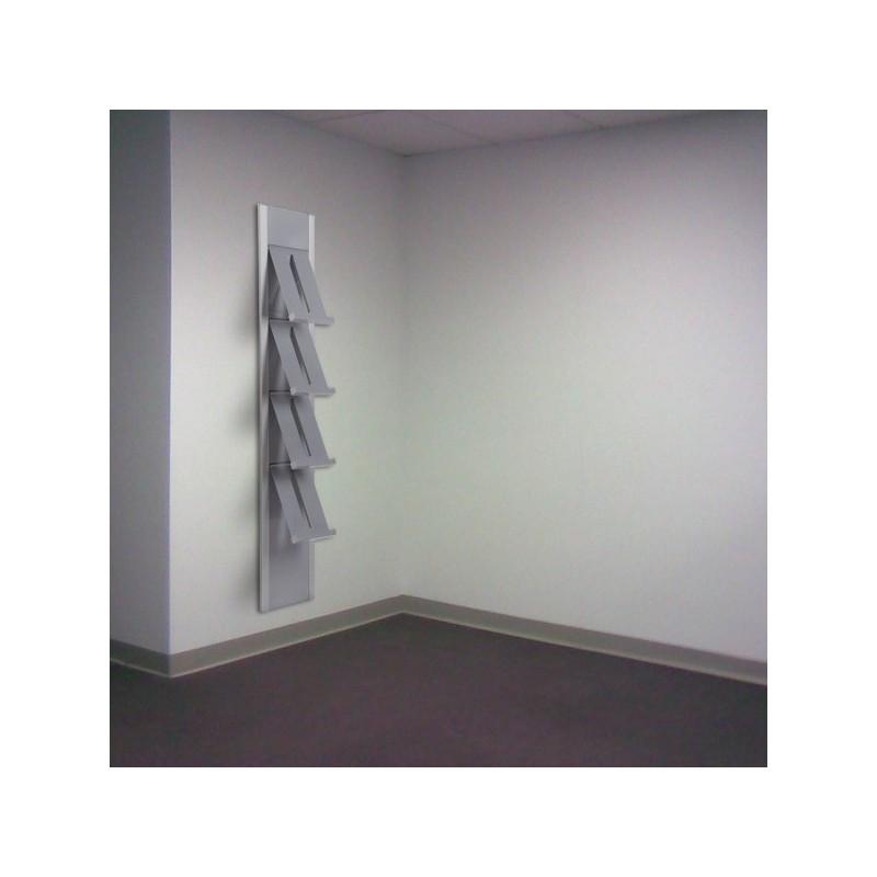 Suporte para folhetos mural| 4 estantes ou receptáculos