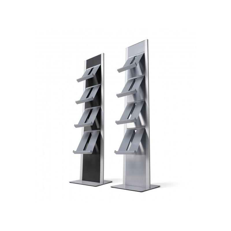 Totem suporte folhetos| suporta 4 estantes ou receptáculos