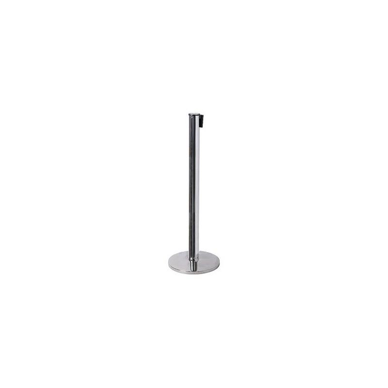 2 Postes de cinta | poste preto ou cromado, cinta  de 2700 mm