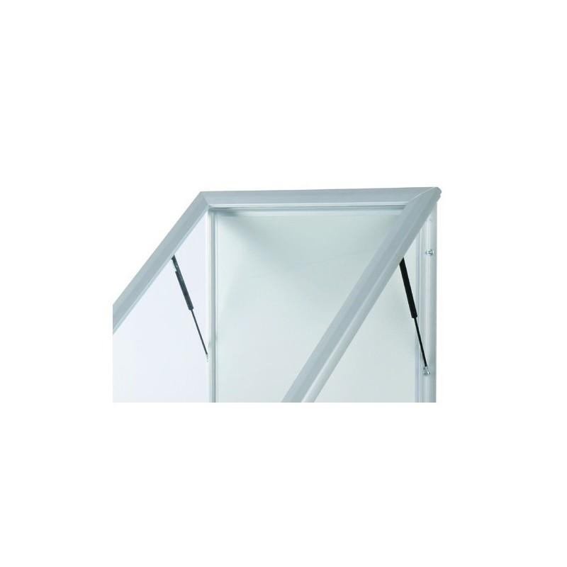 Totem de LED exterior| alumínio anodizado em prata