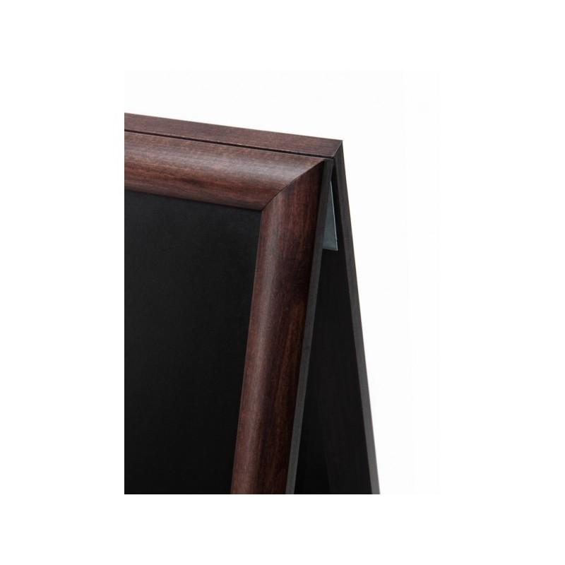 JD NATURA Cavalete de ardósia preta de cavalete| alta qualidade de madeira envernizada