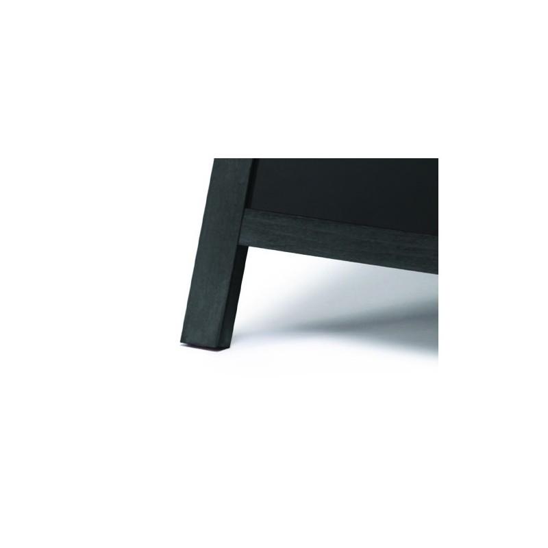 Cavalete de ardósia Preto| alta qualidade de madeira envernizada