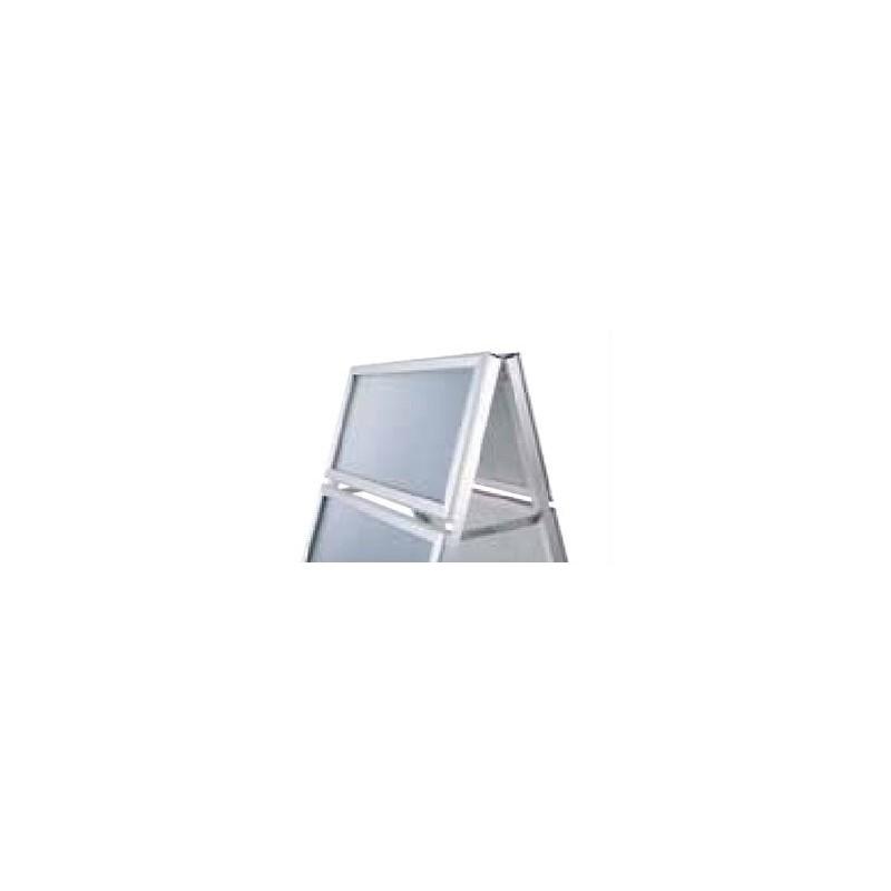Cavalete perfil de 32 mm Logo| esquinas em meia-esquadria