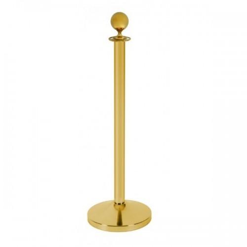 Poste de cordão dourado| dourado polido
