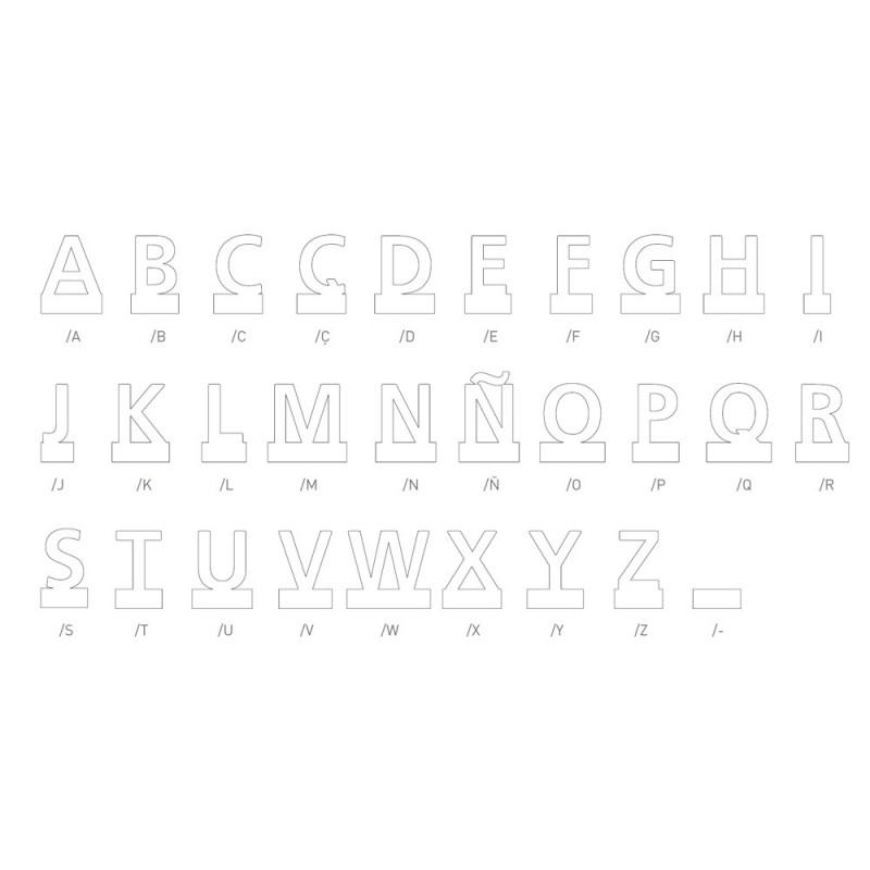 """Pictograma """"Typo"""" em inox auto-adesivo (letras)"""