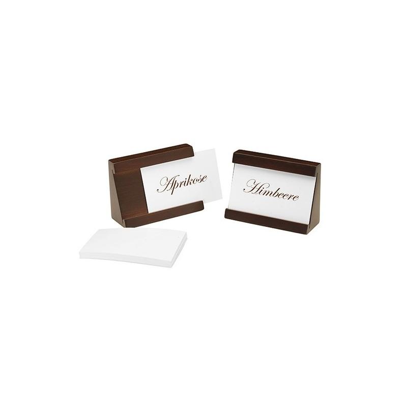 2 suportes etiqueta madeira